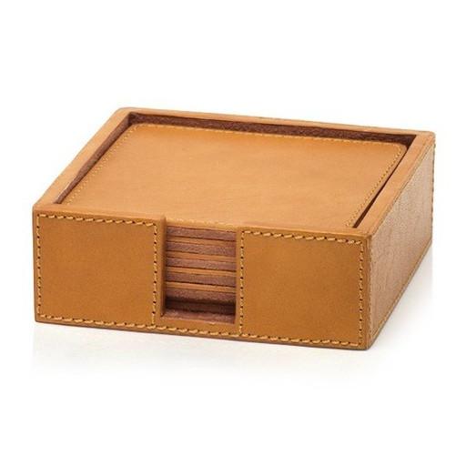 Zodax Leather Coaster set