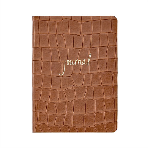 Graphic Image Embossed Leather Journal