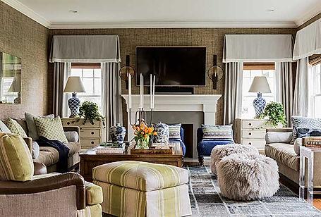 Living room designed by Robin Gannon Interiors