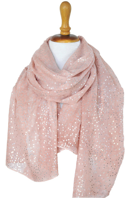 Paisley Road pink scarf with dots