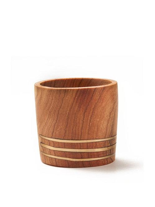 Jimani Small Brass Wooden Planter