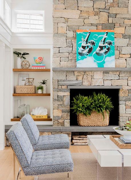 Cape Cod Modern living room great room d