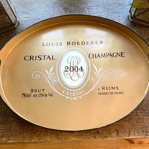 JM Piers oval Cristal tole tray
