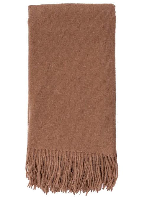Alashan Cashmere Plain Weave Throw (Camel)