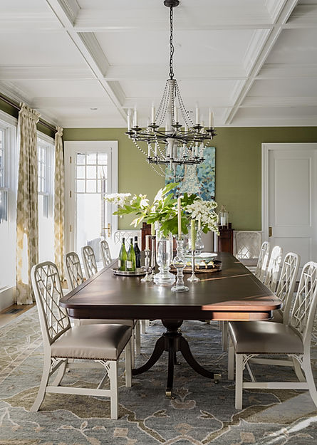Dining room designed by Robin Gannon Int