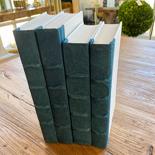 Decorative Book Set: Steel Blue