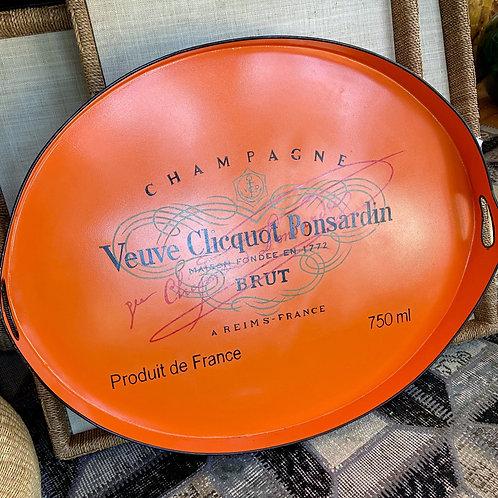 JM Piers oval Veuve Cliquot tole tray