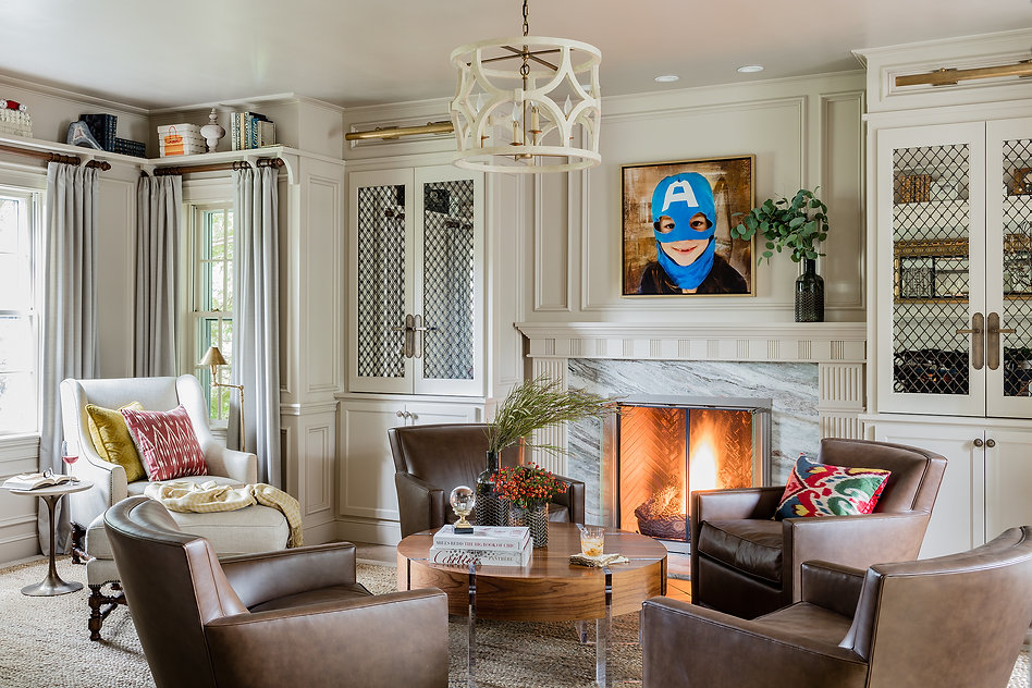 Home library designed by Robin Gannon Interiors