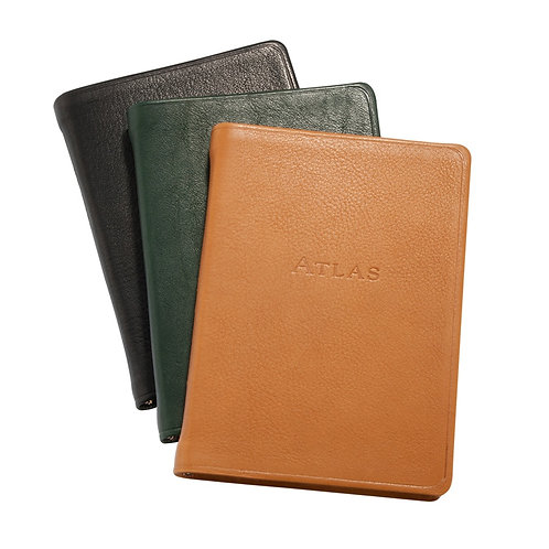The Traveler's Atlas (leather-bound) - British Tan
