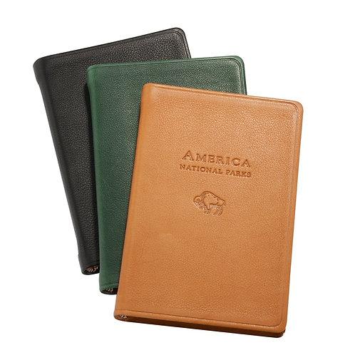 America's National Parks Atlas (leather-bound) - Black
