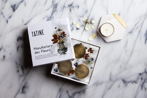 Tatine Orange Flower Factory Des Fleurs Candle Collection (Set of 3)