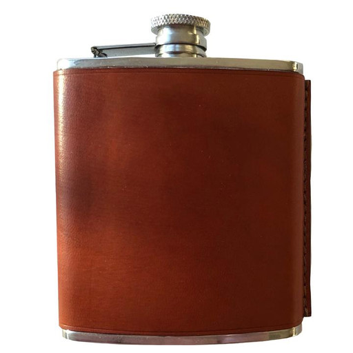 Todder USA Leather Flask