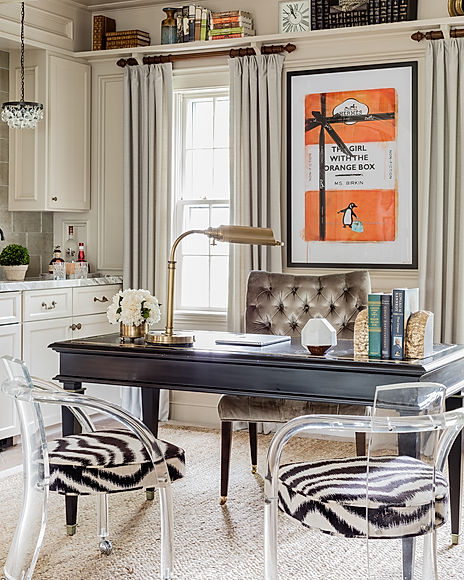 Home office designed by Robin Gannon Interiors