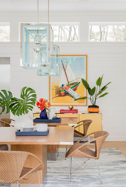 Cape Cod modern dining room designed by Robin G