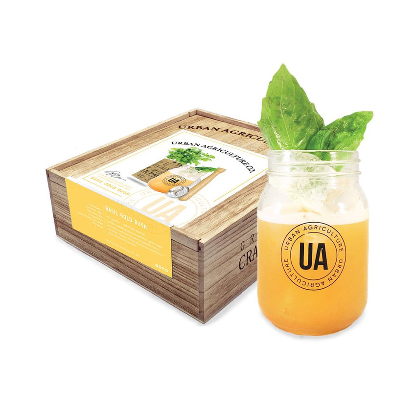 Urban Agriculture Basil Gold Rush cocktail kit