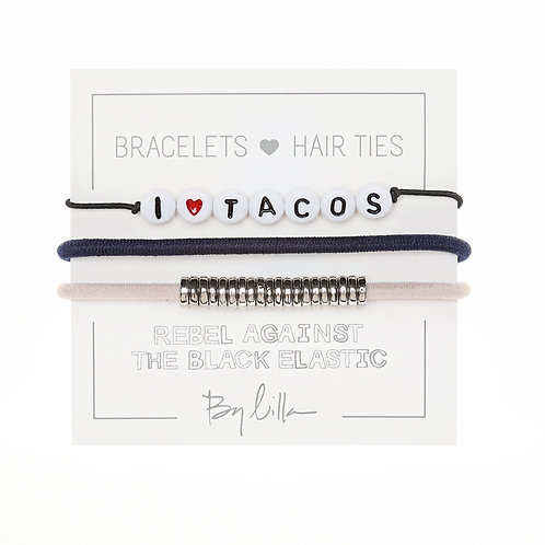 "By Lilla ""I Love Tacos"" Hair Tie Set"