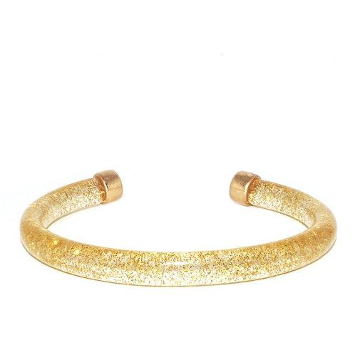 Marlyn Schiff Glitter Cuff (Gold)