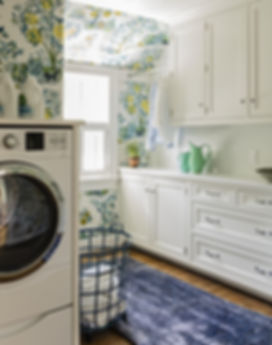 Laundry room designed by Robin Gannon In