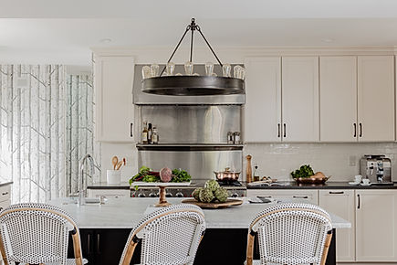 White kitchen designed by Robin Gannon Interiors