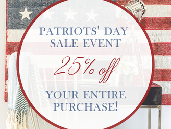 Shop Our Patriots' Day Event!