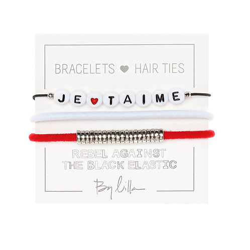 """By Lilla """"Je T'Aime"""" Hair Tie Set"""
