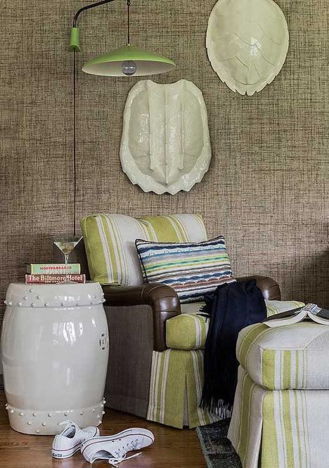 Sitting area designed by Robin Gannon Interiors