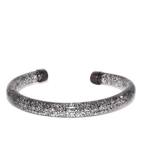 Marlyn Schiff Glitter Cuff (Hematite)