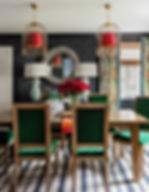 Eclectic dining room designed by Robin G