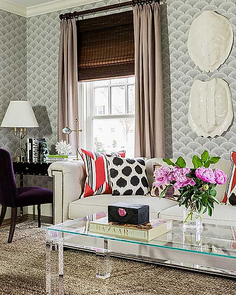 Eclectic living room designed by Robin Gannon Interiors