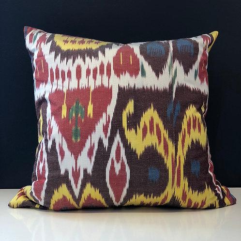 Orientalist Home Ikat Silk Accent Pillow