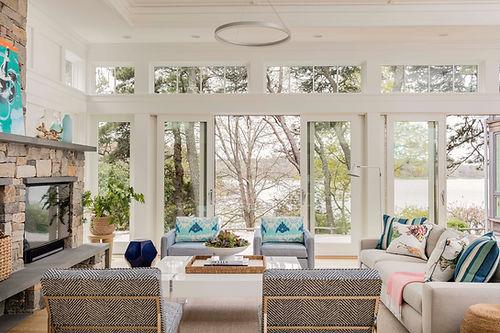Cape Cod Modern living room designed by Robin G