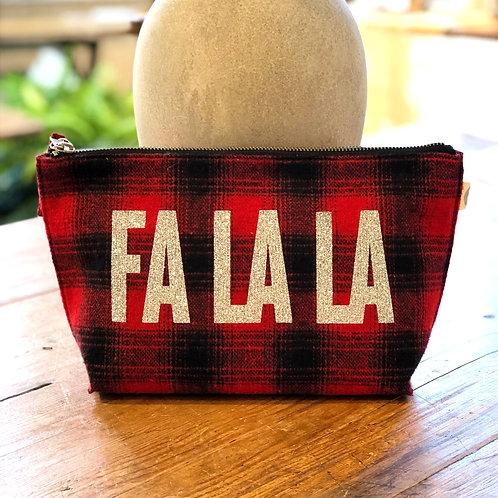 "Quilted Koala ""Fa La La"" Red Flannel Clutch"