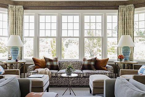 Family room designed by Robin Gannon Int