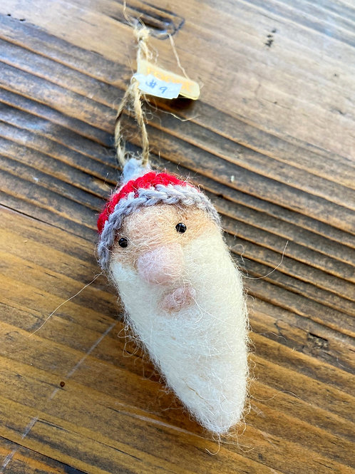 Roost Father Christmas felt ornament