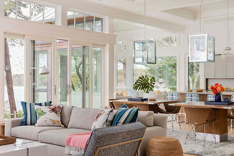 Cape Cod modern living room designed by