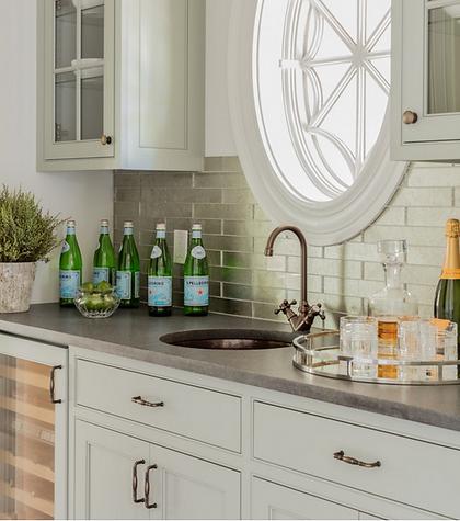 White kitchen designed by Robin Gannon Interiors