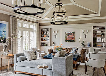 Traditional living room designed by Robin Gannon Interiors