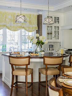 Eat in kitchen with island designed by R