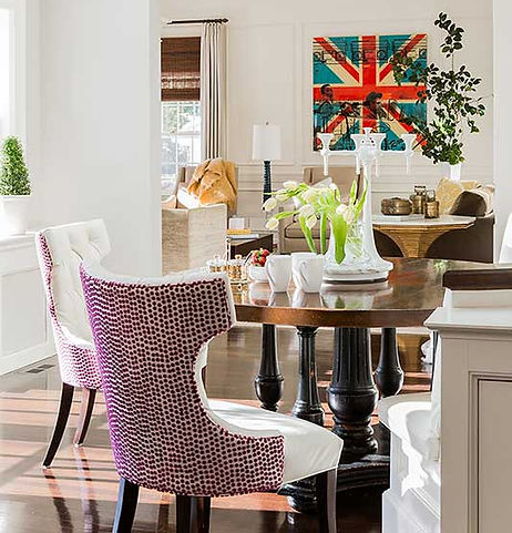 Dining area designed by Robin Gannon Interiors