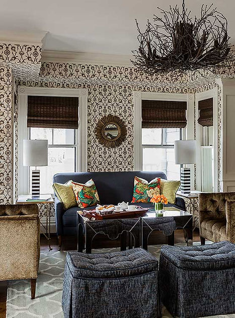 Inn at Hastings Park sitting area designed by Robin Gannon Interiors