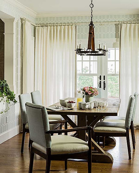 Kitchen table dining room designed by Robin Gannon Interiors