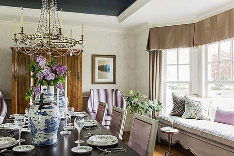 Dining room designed by Robin Gannon Interiors