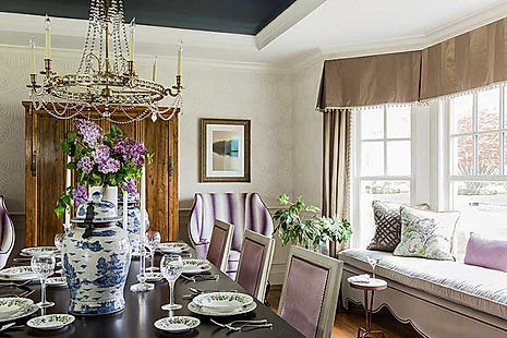 Dining room designed by Robin Gannon Interiors