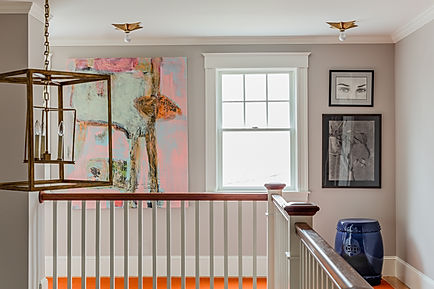 Eclectic hallway designed by Robin Gannon Interiors