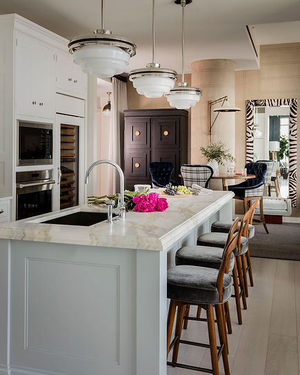 Boston modern penthouse kitchen designed by Robin Ganno