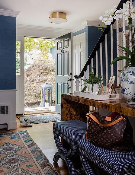 Stylish entryway designed by Robin Ganno