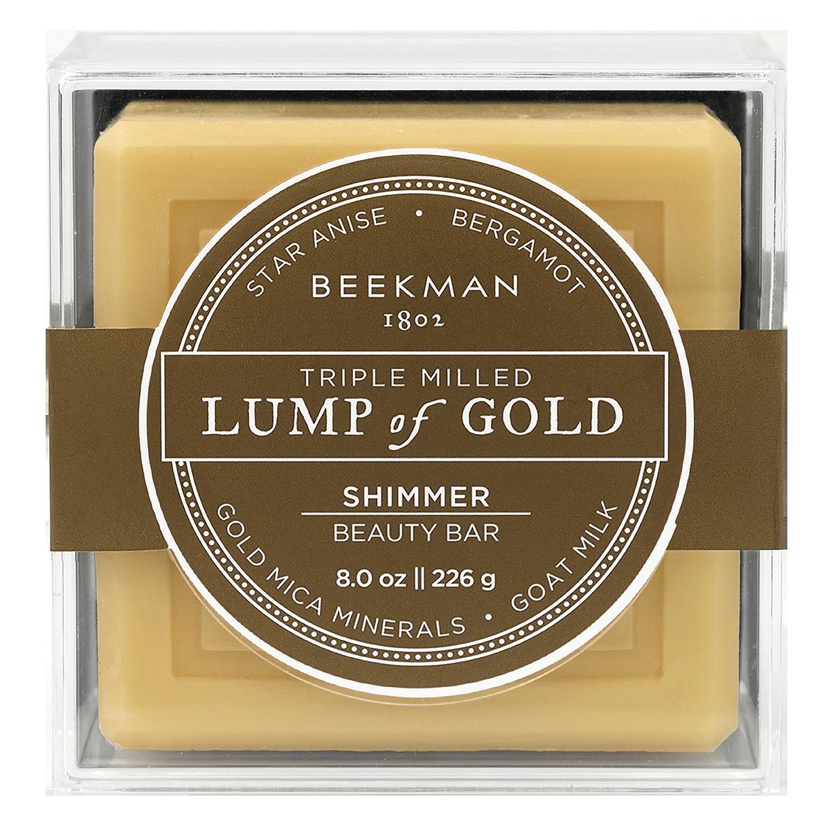Beekman 1802 Lump of Gold Shimmer Beauty Bar