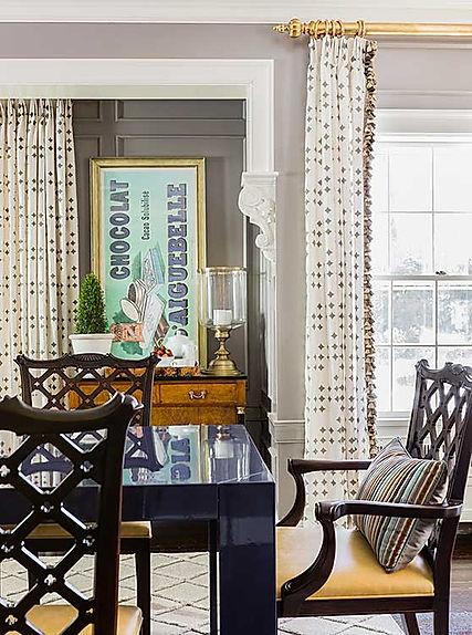 Modern dining room designed by Robin Gannon Interiors