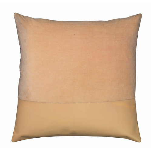 "Jamie Young ""Aria"" leather and velvet pillow"