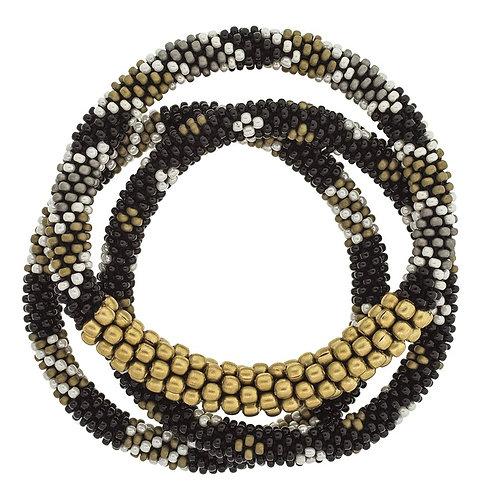Aid Through Trade Statement Roll On Bracelet Set (Black Sun)